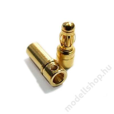 Aranyozott csatlakozó pár (3.5mm)