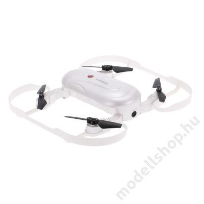 DOBBIN FQ777 szelfi FPV Drón HD kamerával, behajtható karokkal és távirányítóval (fehér)