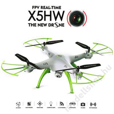 Syma X5HW FPV quadcopter automatikus magasságtartással (fehér)