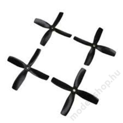 """HQProp 4""""x4x4B bullnose légcsavar szett (fekete)"""