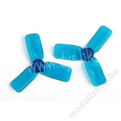 DYS 2x3 3-tollú bullnose légcsavar dupla szett (kék)