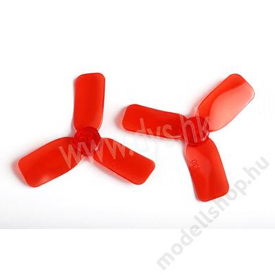 DYS 2x3 3-tollú bullnose légcsavar dupla szett (piros)