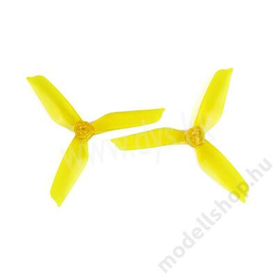 DYS 5x4.2 3-tollú bullnose légcsavar szett (sárga)