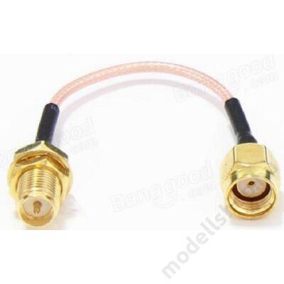 Antenna toldó kábel RP-SMA papa - RP-SMA mama (60mm)