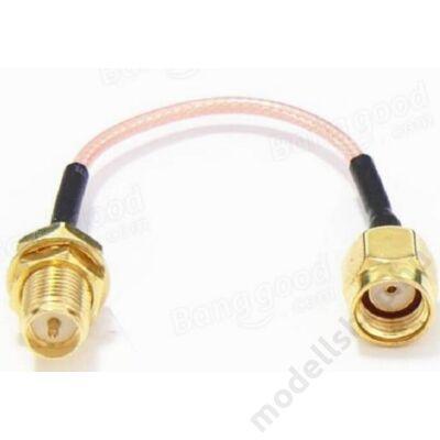 Antenna toldó kábel RP-SMA papa - RP-SMA mama (120mm)