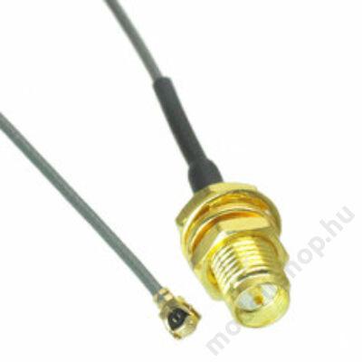 Antenna toldó kábel RP-SMA mama - IPX pigtail (20cm)
