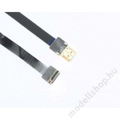 HDMI papa - HDMI papa 90fokos szuperflixibilis összekötő kábel, árnyékolt (50cm)