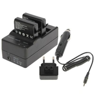 GoPro Hero 4 dupla asztali/szivargyújtós töltő