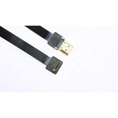 HDMI papa - mini HDMI papa szuperflixibilis összekötő kábel, árnyékolt (60cm)